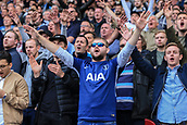 30th September 2017, The John Smiths Stadium, Huddersfield, England; EPL Premier League football, Huddersfield Town versus Tottenham Hotspur; Tottenham fans singing and in high spirits as they are winning 3-0