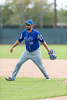 Team Italy first baseman Chris Colabello (25) warms up before an exhibition game against the Oakland Athletics at Lew Wolff Training Complex on October 3, 2018 in Mesa, Arizona. (Zachary Lucy/Four Seam Images)