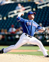 Brian Gordon - Texas Rangers - 2009 spring training.Photo by:  Bill Mitchell/Four Seam Images