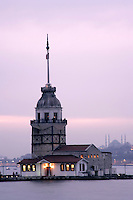 Kiz Kulesi or Maidens Tower in Uskudar, Istanbul, Turkey