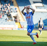 06.10.18 Dundee v Kilmarnock: Eamonn Brophy scores from the penalty spot and celebrates
