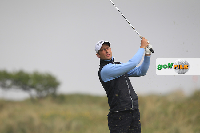 Patrick Mullins (WAL) on the 4th tee during Round 3 of the Flogas Irish Amateur Open Championship at Royal Dublin on Saturday 7th May 2016.<br /> Picture:  Thos Caffrey / www.golffile.ie