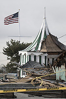 Destroyed part of the Sea Bright Country club after Hurricane Sandy.The club is one of the oldest in the country, established in 1895.