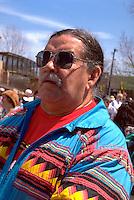 Heart of the Beast May Day parade spectator Clyde Bellecourt.  Minneapolis Minnesota USA