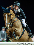 Martin Fuchs of Switzerland riding Picsou du Chene in action during the Gucci Gold Cup as part of the Longines Hong Kong Masters on 14 February 2015, at the Asia World Expo, outskirts Hong Kong, China. Photo by Johanna Frank / Power Sport Images