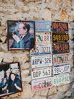 Photos of Josip Broz Tito at the Stari Grad, the oldest part of Mostar.