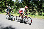 Stephane Rossetto (FRA) Cofidis and Pierre Rolland (FRA) Vital Concept-B&B Hotels in the 2 man French escape group right until the Port de Bales during Stage 3 of the Route d'Occitanie 2019, running 173km from Arreau to Luchon-Hospice de France, France. 22nd June 2019<br /> Picture: Colin Flockton | Cyclefile<br /> All photos usage must carry mandatory copyright credit (© Cyclefile | Colin Flockton)
