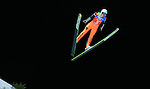 A student competes during the Normal Hill Team Ski Jumping event as part of the Winter Universiade Trentino 2013 on 18/12/2013 in Predazzo, Italy.<br /> <br /> &copy; Pierre Teyssot - www.pierreteyssot.com