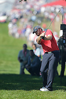 J.B. Holmes (Team USA) on the 1st fairway during the Friday afternoon fourball at the Ryder Cup, Hazeltine national Golf Club, Chaska, Minnesota, USA.  30/09/2016<br /> Picture: Golffile | Fran Caffrey<br /> <br /> <br /> All photo usage must carry mandatory copyright credit (&copy; Golffile | Fran Caffrey)