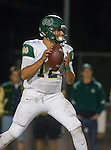 San Pedro, CA 11/27/15 - David Arredondo (Mira Costa #12) in action during the CIF Western Division semi-final game between Mira Costa and Palos Verdes.  Palos Verdes defeated Mira Costa to advance to the Western Division finals.