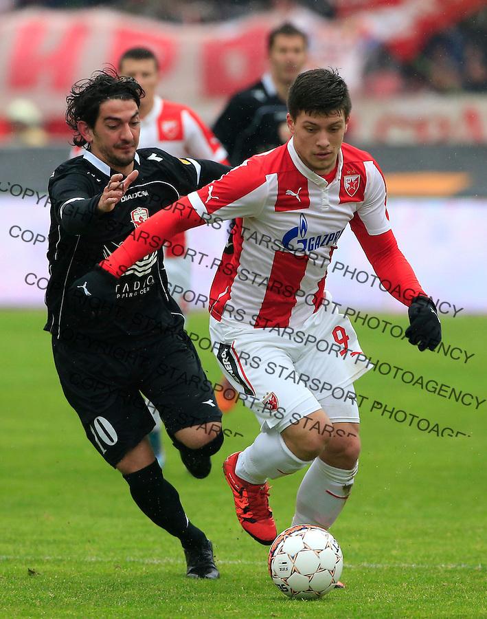 Fudbal Jelen Super League season 2015-2016<br /> Crvena Zvezda v Vozdovac<br /> Luka Jovic and Marko Adamovic (L)<br /> Beograd, 28.11.2015.<br /> foto: Srdjan Stevanovic/Starsportphoto&copy;