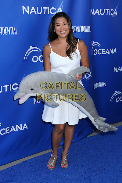 16 May 2014 - Santa Monica, California - Jenna Ushkowitz. 2nd Annual Nautica Oceana Beach House Party held at the Annenberg Community Beach House.  <br /> CAP/ADM/BP<br /> &copy;Byron Purvis/AdMedia/Capital Pictures
