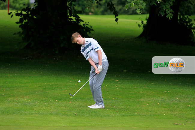Conor Roe (Powerscourt) on the 15th green during Round 1 of the 2016 Leinster Boys Amateur Open Championship at Mullingar Golf Club on Tuesday 21st June 2016.<br /> Picture:  Golffile | Thos Caffrey