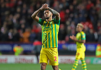 Darnell Furlong of West Bromwich Albion thanks the West Bromwich Albion fans during Charlton Athletic vs West Bromwich Albion, Sky Bet EFL Championship Football at The Valley on 11th January 2020