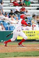 July 4th 2008:  Outfielder D'Arby Myers (12) of the Williamsport Crosscutters, Class-A affiliate of the Philadelphia Phillies, during a game at Bowman Field in Williamsport, PA.  Photo by:  Mike Janes/Four Seam Images