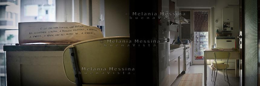 Photo  inspired by words and emotions of G. victim of domestic violence by the husband. Above the translation of her words: &quot;It's him, he is just unable..unable to accept the other, unable to feel emotions, unable to laugh, unable to live, unable to share with others, yes..unable to live&quot;<br /> Foto ispirata dalle parole di G.vittima di violenza domestica:&quot;E' lui che non riesce...ad accettare l'altro, a provare emozioni, a ridere, a vivere, a stare con gli altri, si ..a vivere&quot;
