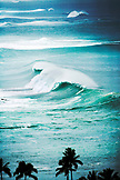 USA, Hawaii, Oahu, Scenic view of ocean waves on the North Shore