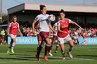Laura Vetterlein of West Ham and Jennifer Beattie of Arsenal during Arsenal Women vs West Ham United Women, Barclays FA Women's Super League Football at Meadow Park on 8th September 2019