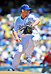 24 July 2011: Los Angeles Dodgers pitcher Chad Billingsley on the mound against the Washington Nationals at Dodger Stadium in Los Angeles, California. The Dodgers defeated the Nationals 3-1 to take the rubber match of their three game series. Mandatory Credit: Ed Wolfstein Photo