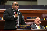 Nevada Assemblyman Jason Frierson, D-Las Vegas, works on the Assembly floor at the Nevada Legislature in Carson City, Nev., on Monday, March 18, 2013..Photo by Cathleen Allison