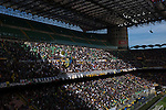 Fans in the Curva Nord greet the teams at the Stadio Giuseppe Meazza, also known as the San Siro, before Internationale took on Cagliari in an Italian Serie A fixture. The match was overshadowed by a huge controversy that as Inter Ultras declared open warfare on captain Mauro Icardi for a chapter in his autobiography, accusing him of lying about an incident in 2015. Inter Milan lost the match 2-1, watched by a crowd of 43,757.