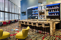 Inviting bar at the DoubleTree by Hilton hotel in Downtown Chicago.