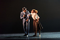"Ballet Black presents a double bill of ""The Suit"", choreographed by Cathy Marston, and ""A Dream Within A Midsummer Night's Dream"", choreographed by Arthur Pita, in the Barbican theatre. Shown here is: ""The Suit"". Picture shows: Jose Alves (Philemon), Astrid Marie Mence.."