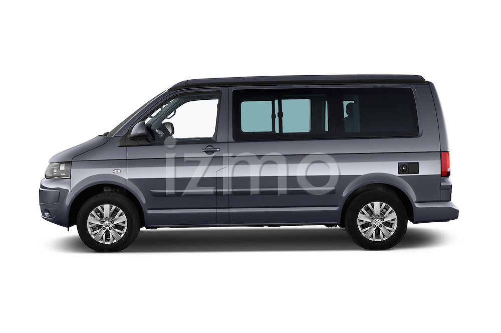 Car Driver side profile view of a 2014 Volkswagen CALIFORNIA COMFORTLINE EDITION BLUEMOTION 4 Door Minivan Side View