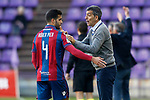 Levante UD's coach Juan Ramon Lopez Muniz with Rober Pier during La Liga Second Division match. March 11,2017. (ALTERPHOTOS/Acero)