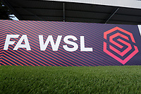 Barclays FAWSL signage during Arsenal Women vs West Ham United Women, Barclays FA Women's Super League Football at Meadow Park on 8th September 2019