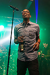 © Joel Goodman - 07973 332324 . 11/04/2015 . Manchester , UK . KERMIT ( Paul Leveridge ) . Black Grape perform a reunion gig in support of Bez's Reality Party . Photo credit : Joel Goodman