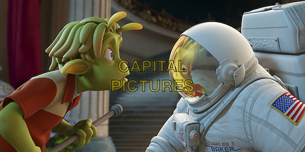 "SCENE - ""Lem"" voiced by Justin Long & ""Chuck"" voiced by Dwayne ""The Rock"" Johnson.in Planet 51 .*Filmstill - Editorial Use Only*.CAP/FB.Supplied by Capital Pictures."