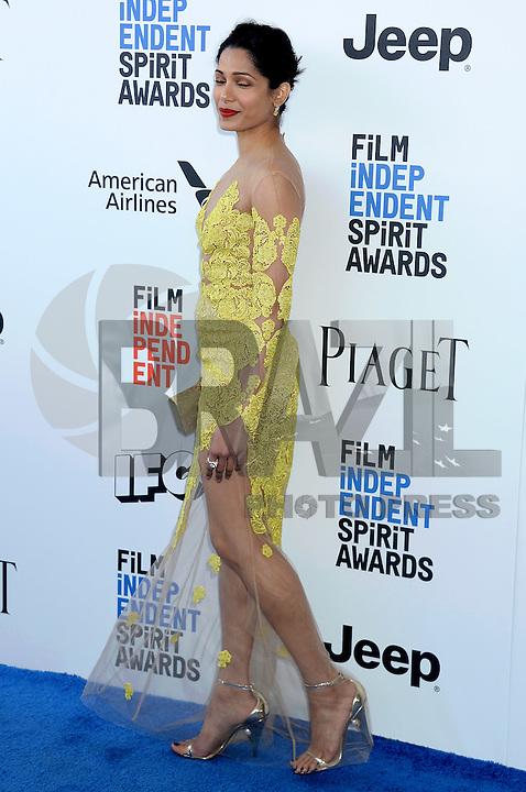 SANTA MONICA, 25.02.20-17 - SPIRIT-AWARDS - Freida Pinto durante Film Independent Spirit Awards em Santa Monica na California nos Estados Unidos (Foto: Gilbert Flores/Brazil Photo Press)