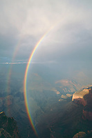 Rainbow over Grand Canyon <br />