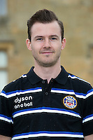 Alasdair Davies poses for a portrait at a Bath Rugby photocall. Bath Rugby Media Day on August 28, 2014 at Farleigh House in Bath, England. Photo by: Rogan Thomson for Onside Images