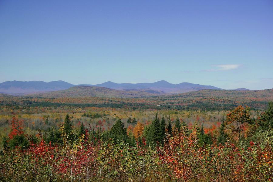 Western Maine Mountains colorful foliage