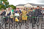 100 year old Jackie The Farmer cuts the ribbon to start the Irish Motor Neuron Disease vintage cycle and walk in Darby O'Gills Killarney on Sunday..