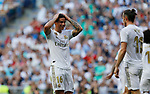 Real Madrid CF's James Rodriguez and Real Madrid CF's Gareth Bale during La Liga match. Aug 24, 2019. (ALTERPHOTOS/Manu R.B.)