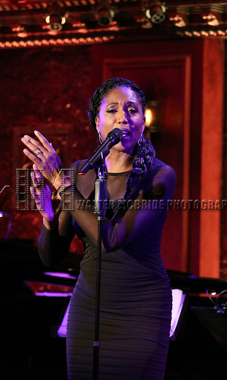 "Nita Whitaker on stage during a Song preview performance of the BeBe Winans Broadway Bound Musical ""Born For This"" at Feinstein's 54 Below on November 5, 2018 in New York City."