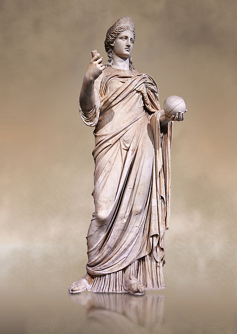 "Statue of Juno known as La Providence, a 2nd century AD Roman sculpture from Rome, Italy. Juno is an ancient Roman goddess, the protector and special counselor of the state. As the patron goddess of Rome and the Roman Empire, Juno was called Regina (""Queen"") and, together with Jupiter and Minerva, was worshipped as a triad on the Capitol (Juno Capitolina) in Rome. The Royal Collection Inv No. MR 333 or Ma 485, Louvre Museum, Paris."