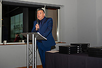 Pictured: Nigel Rees of Swansea City speaks during the Swansea City Academy presentation night at the liberty stadium, Swansea, Wales, UK. Thursday 24th October 2019