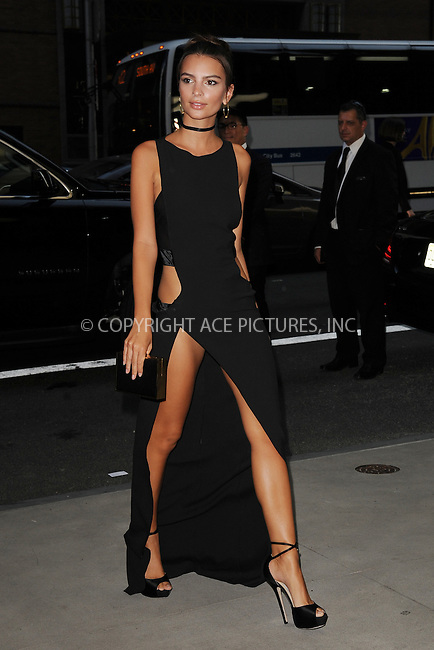 www.acepixs.com<br /> September 8, 2016  New York City<br /> <br /> Emily Ratajkowski attending the The Daily Front Row's 4th Annual Fashion Media Awards at Park Hyatt New York on September 8, 2016 in New York City. <br /> <br /> <br /> Credit: Kristin Callahan/ACE Pictures<br /> <br /> <br /> Tel: 646 769 0430<br /> Email: info@acepixs.com