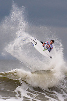Brett Simpson (USA) competes in Round 3 of the 2011 Quiksilver Pro New York in Long Beach, NY.