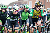 Picture by Alex Whitehead/SWpix.com - 10/09/2017 - Cycling - OVO Energy Tour of Britain - Stage 8, Worcester to Cardiff - Lars Boom of LottoNL Jumbo and Edvald Boasson Hagen of Dimension Data.