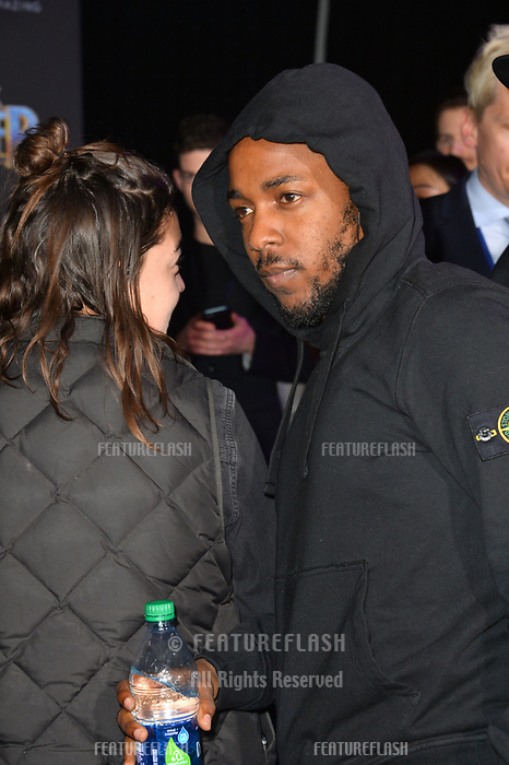 Kendrick Lamar at the world premiere for &quot;Black Panther&quot; at the Dolby Theatre, Hollywood, USA 29 Jan. 2018<br /> Picture: Paul Smith/Featureflash/SilverHub 0208 004 5359 sales@silverhubmedia.com