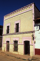 Restored house in the Spanish colonial mining town of Copala near Mazatlan, Sinaloa, Mexico