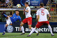 Lorenzo Pellegrini of Italy, Krystian Bielik, Pawel Bochniewicz of Poland  <br /> Bologna 19/06/2019 Stadio Renato Dall'Ara  <br /> Football UEFA Under 21 Championship Italy 2019<br /> Group Stage - Final Tournament Group A<br /> Italy - Poland <br /> Photo Cesare Purini / Insidefoto