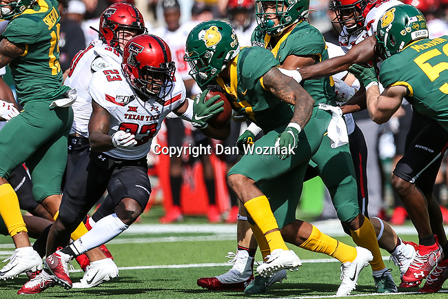 Texas Tech Red Raiders defensive back Damarcus Fields (23) in action during the game between the Texas Tech Red Raiders and the Baylor Bears at the McLane Stadium in Waco, Texas.