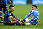 Lautaro Martinez of Inter and Jose Callejon of Napoli during the Coppa Italia match at Giuseppe Meazza, Milan. Picture date: 12th February 2020. Picture credit should read: Jonathan Moscrop/Sportimage