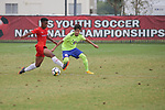 FRISCO, TX - JULY 28: US Youth Soccer PPA KSA 01 Pro-Profile vs Galaxy 2001 Blue on July 28, 2018 in Frisco, Texas. (Photo by Rick Yeatts Photography/George Walker)
